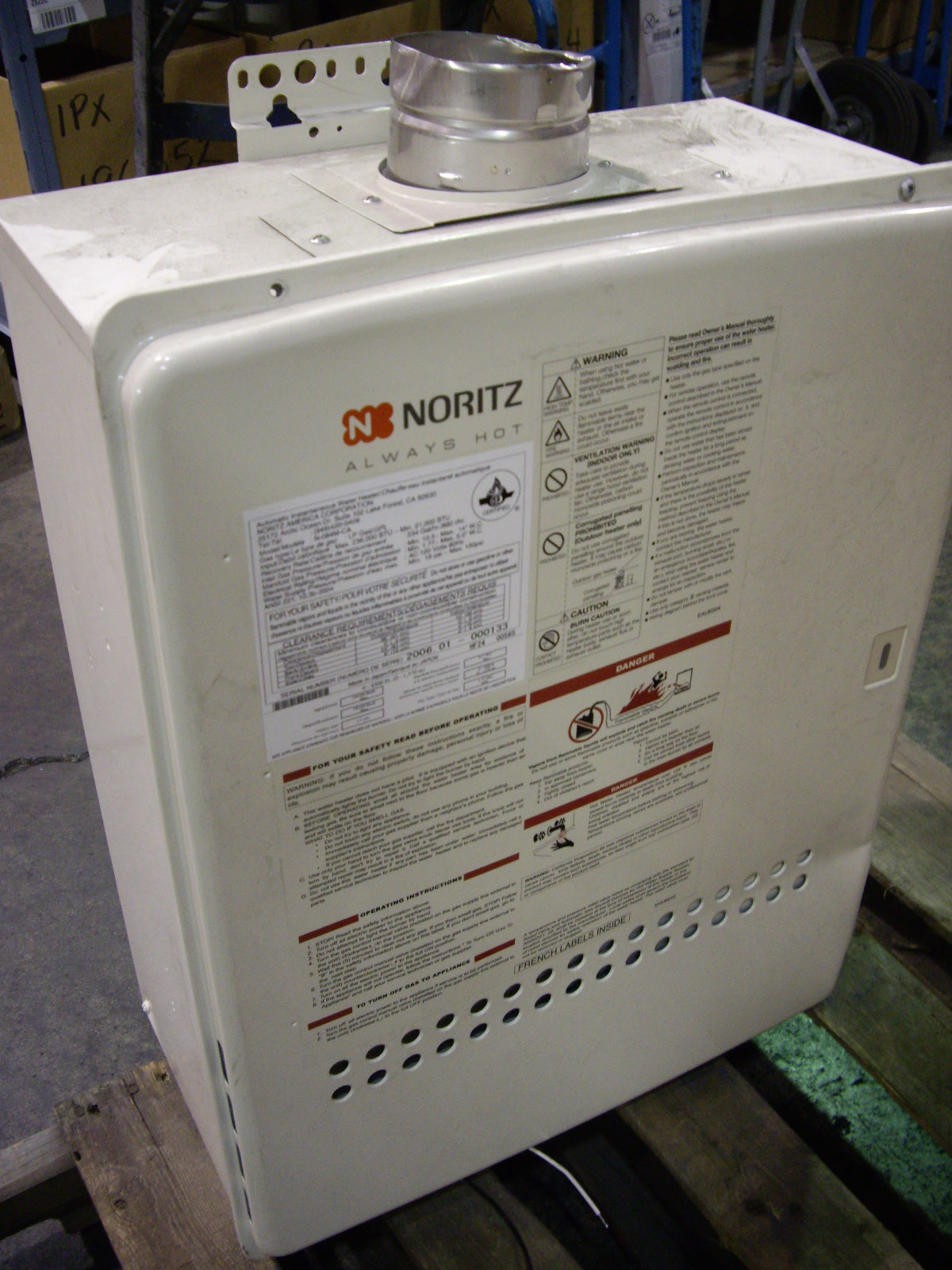 All About Towing >> Noritz Tankless Water Heater, Propane - Allsold.ca - Buy & Sell Used Office Furniture Calgary