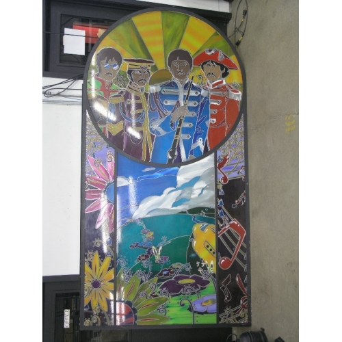 Customized Beatles Stained Glass Style Portrait Allsold