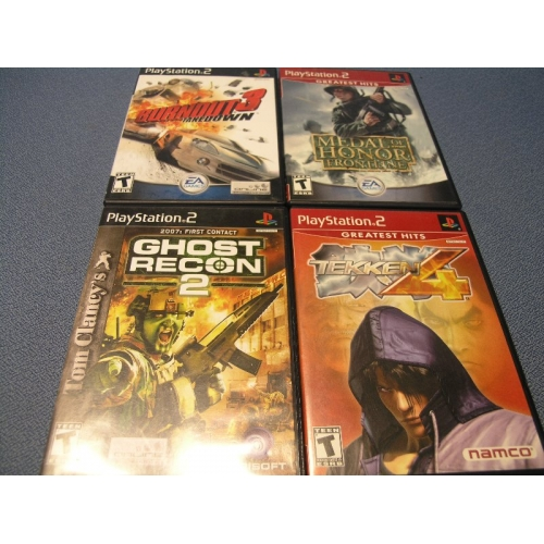 Executive Privilege Saints Row 4: 4x PlayStation 2 Games Tekken Medal Honor Ghost Recon