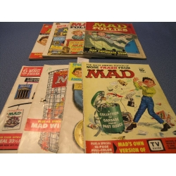 Lot of 8 Worst of Mad, Follies, and Trash Magazine