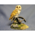 Owl Wheel Medium Figurine Enesco Border Fine Arts New