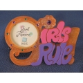 Russ Girl Powrrr Frostique Picture Frame 'Girl's Rule!'