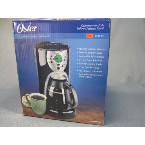 Oster Coffee Maker Filter Size : Oster 12-Cup Programmable CoffeeMaker 7995-33 - Allsold.ca - Buy & Sell Used Office Furniture ...