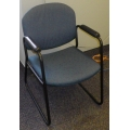 Blue Green Armed Guest Chair