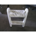 White Plastic 2 Step stool Collapsible