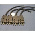 Lot of 4 Unterminated Pro Pin Plug/Connector 15A-250V