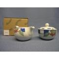 Johnson Bros. Cream & Sugar/Preserve Jar New In Box