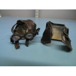 TY Beanie Pilot/Biker Leather Vest, Helmet & Goggles