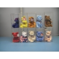 Lot of 10 Assorted Beanie Babies Baby Mardi Gras Sizzle