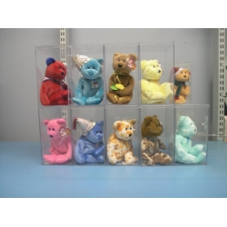 Lot of 10 Assorted Beanie Babies Baby 2003 Aware