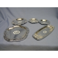 Lot of 7 25th Anniversary Serving Trays