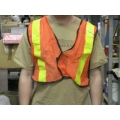 Lot of 5 North Mesh Traffic Safety Vests TV50RS/Reg