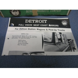 Vintage Detroit Full Vision Mirror D-6U