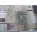 64 x 90 Area Rug Browns Green Burgundy