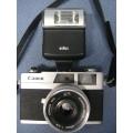 Canon Canonet 28 Film Camera w 17 B Flash & Case