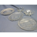 Lot of 5 Crystal Serving Dishes