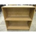 Storage 2 Shelf Light Oak 32 x 32 x 12