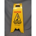 Amrino Wet Floor Sign 'How Safe Are Your Tires?' 28x10