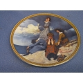 """Rockwell Rediscover Women """"Waiting on the Shore"""" Plate"""