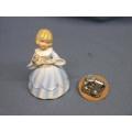 "Vintage Music Box Doll Little Girl Sankyo 6"""