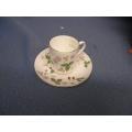 Wedgewood Teacup Saucer Wild Strawberry Bone China