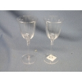 """Lot of 2 Crystal Wine Glasses 8.5"""" x 3.5"""""""