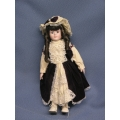 "17"" Soft Bodied Porcelain Doll Purple Dress"