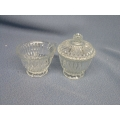 Lead Crystal Cream and Sugar with Lid