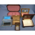 Lot  of 6 Assorted Jewel Boxes