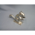 Silver Squirrel Nut Cracker 6""