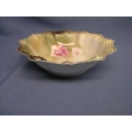 "Vintage RS Germany Porcelain 11"" Serving Bowl Flower"