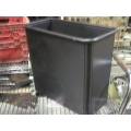 Metal Garbage Cans Black or Brown 16 x 8 x 15