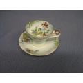Aynsley England Teacup Aqua Primrose B5137/1 Vintage