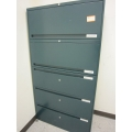 Office Speciaty 5 Drawer Lateral File Cabinet Locking Teal