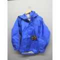 Gore-Tex Waterproof Jacket Litetrax Checkered Blue XS w Hood