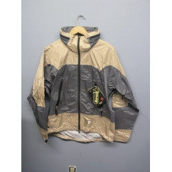 EntrantV Toray Weatherproof Jacket Grey Beige Medium w Hood