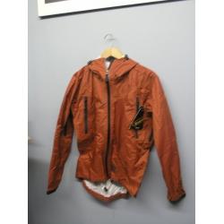 EntrantV Toray Weatherproof Jacket Checkered Rust Small w Hood