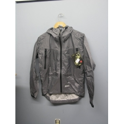 EntrantV Toray Weatherproof Jacket Checkered Grey Small w Hood