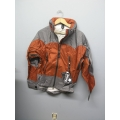 EntrantV Toray Weatherproof Jacket Rust Grey Small w Hood