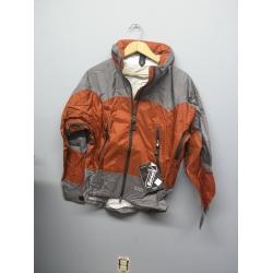 EntrantV Toray Weatherproof Jacket Rust Grey Small w Hood