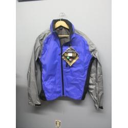 Gore-Tex Paclite Waterproof Jacket Blue Grey Medium w Hood