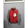 Gore-Tex Paclite Waterproof Jacket Red Grey Medium w Hood