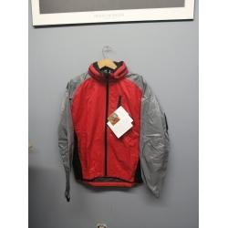 Gore-Tex Paclite Waterproof Jacket Red Grey Medium w Hood