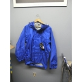 Gore-Tex Waterproof Jacket Litetrax Checkered Blue Small w Hood