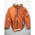 EntrantV Toray Weatherproof Jacket Rust Checkered Medium w Hood