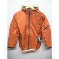EntrantV Toray Weatherproof Jacket Rust Checkered Medium w Hood