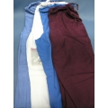 Lot of 4 Scrubs Medium Landau Pants Blue White Burgundy