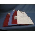 Lot of 4 Scrubs Large Barco Pants Red(2) White Blue