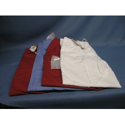 Lot of 4 Scrubs Barco Pants Red(2) White Blue - L