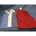 Lot of 4 Scrubs Large Barco Pants Red White Blue Stripped